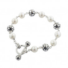 Honora Sterling Silver White Freshwater Cultured Pearl Bracelet - LB5660WH
