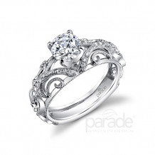 Parade Design 18k White Gold Diamond Engagement Ring - R3072
