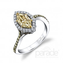 Parade Design 18k White Gold Diamond Ring - R3647