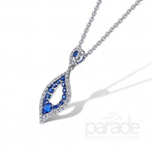 Parade Design 18k White Gold Sapphire and Diamond Pendant - P3650A-SA