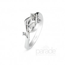 Parade Design 18k White Gold Diamond Pendant - BD2839A