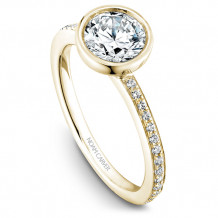 Noam Carver 14k Yellow Gold Bezel Diamond Engagement Ring - B095-02YM