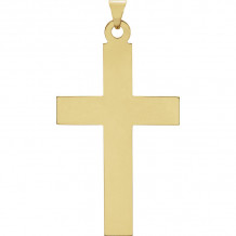 Stuller 14k Yellow Gold Cross Pendant - R41046