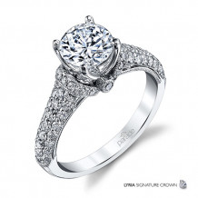 Parade Design 18k White Gold Diamond Engagement Ring - R3715