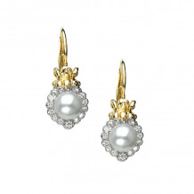 Alwand Vahan 14k Yellow Gold & Sterling Silver Pearls Earrings - 42746D-PRL