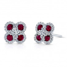 Kattan 18k White Gold High Quality Color Stud Earrings - AEF01664