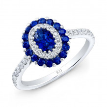 Kattan 18k White Gold High Quality Color Gemstone Ring - ARD14333