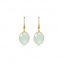 Elle Sterling Silver & 18k Yellow Gold Earrings - PE012