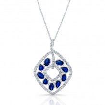 Kattan 18k White Gold High Quality Color Gemstone Necklace - APF02463