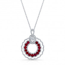 Kattan 18k White Gold High Quality Color Gemstone Necklace - LPF067574