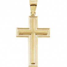 Stuller 14k Yellow Gold Cross Pendant - R42106