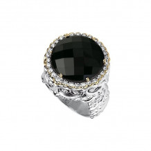 Alwand Vahan 14k Yellow Gold & Sterling Silver Onyx Ring - 12526BO