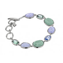 Elle Multi Stone Blue And Green Bezel Bracelet - B0154