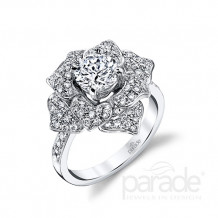 Parade Design 18k White Gold Diamond Engagement Ring - R3685