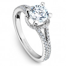 Noam Carver 14k White Gold Modern Diamond Engagement Ring - B088-01WM