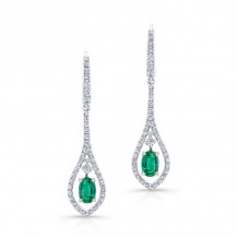 Kattan 18k White Gold High Quality Color Gemstone Earrings - LEFA20395