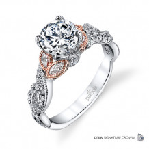 Parade Design 18k Two Tone Gold Diamond Engagement Ring - R3567