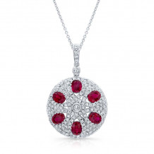 Kattan 18k White Gold High Quality Color Gemstone Necklace - LPFA19964
