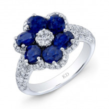 Kattan 18k White Gold High Quality Color Gemstone Ring - LRFA33023