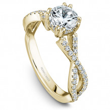 Noam Carver Yellow Gold Twist Band Diamond Engagement Rings - B004-03YM