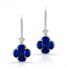 Kattan 18k White Gold High Quality Color Gemstone Earrings - LEFA25613