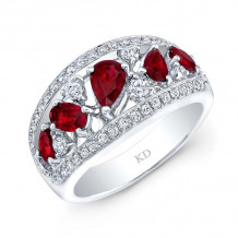 Kattan 18k White Gold High Quality Color Gemstone Ring - LRF120564
