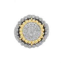 Alwand Vahan 14k Yellow Gold & Sterling Silver Pave Diamond Ring - 12555D