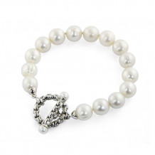 Honora Sterling Silver White Freshwater Cultured Pearl Bracelet - LB5708WH