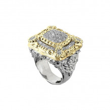 Alwand Vahan 14k Yellow Gold & Sterling Silver Pave Diamond Ring - 12553D