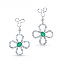 Kattan 18k White Gold High Quality Color Gemstone Earrings - LEC006145