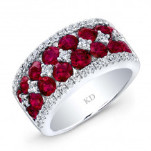 Kattan 18k White Gold High Quality Color Gemstone Ring - LRF082534