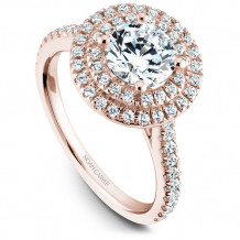 Noam Carver 14k Rose Gold Halo Diamond Engagement Ring - R051-01RM