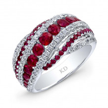 Kattan 18k White Gold High Quality Color Gemstone Ring - LRF113804