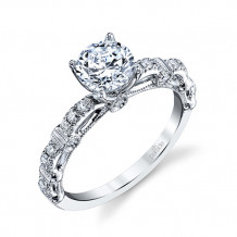 Parade Design 18k White Gold Diamond Engagement Ring - R3877