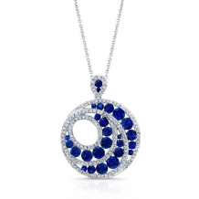 Kattan 18k White Gold High Quality Color Gemstone Necklace - APF02913