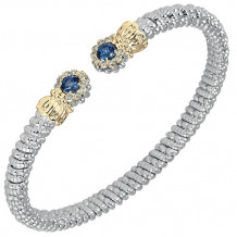 Alwand Vahan 4mm 14k Gold & Sterling Silver Diamond And London Blue Topaz  Bracelet - 22439DLBT04