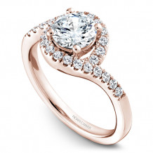 Noam Carver 14k Rose Gold Halo Diamond Engagement Ring - B186-01RM