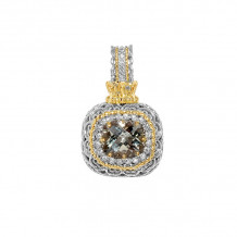 Alwand Vahan 14k Yellow Gold & Sterling Silver Blue Topaz Pendant - 70665D-BT