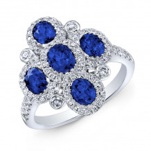 Kattan 18k White Gold High Quality Color Gemstone Ring - ARF05213