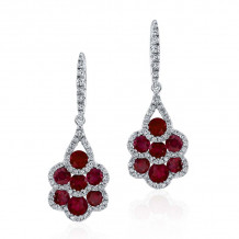 Kattan 18k White Gold High Quality Color Gemstone Earrings - LEF067114
