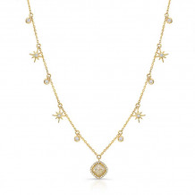 Kattan 18k Yellow Gold Rough Diamond Necklace - JVNV02350Y