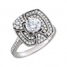 Stuller 14k White Gold Diamond Semi-mounting Engagement Ring - 122451-600-P