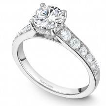 Noam Carver 14k White Gold Modern Diamond Engagement Ring - B233-01WM