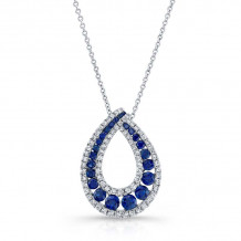 Kattan 18k White Gold High Quality Color Gemstone Necklace - LPF46203