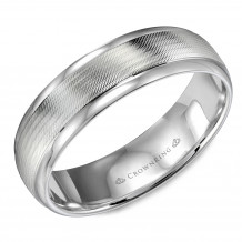 CrownRing 14k White Gold Classic 6mm Wedding Band - WB-9560