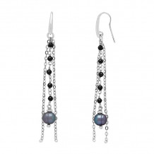 Honora Sterling Silver After Dark Extension Earrings - SE1348SBL