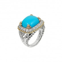 Alwand Vahan 14k Yellow Gold & Sterling Silver Turquoise Ring - 12623DTU
