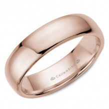 CrownRing 14k Rose Gold Traditional 6mm Wedding band - TDL14R6