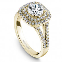 Noam Carver 14k Yellow Gold Halo Diamond Engagement Ring - B035-01YM