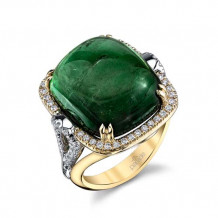 Parade Design 18k Two Tone Gold Tourmaline and Diamond  Ring - R3611
